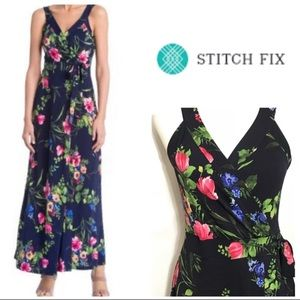 Stitch Fix Le Lis Wrap Floral Maxi Dress Medium